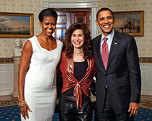 With President Obama & First Lady Michelle Obama